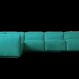 sofa verano tela azul