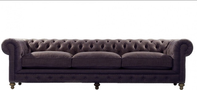 Chester sofa lino chocolate