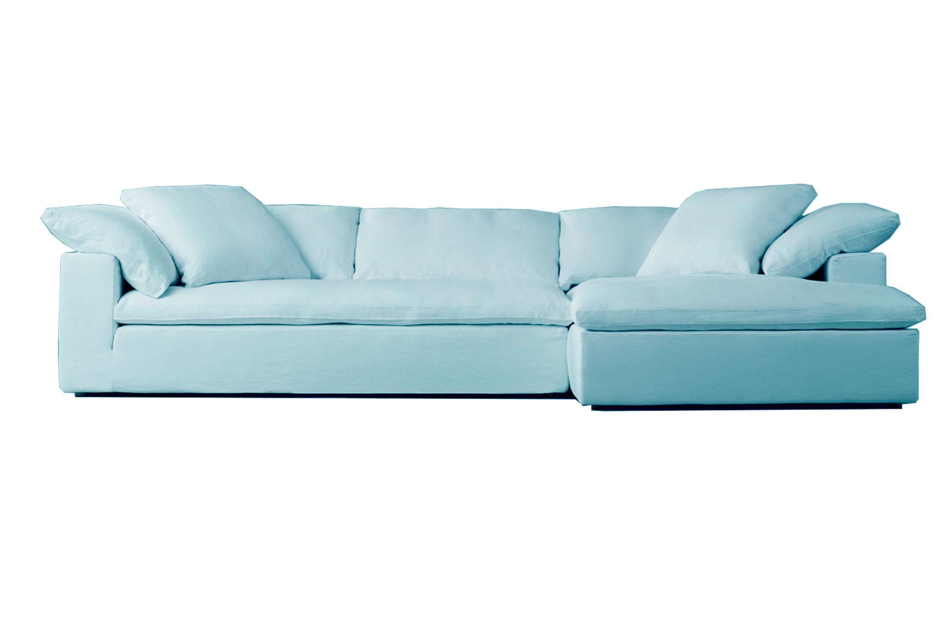 sofa azul cielo