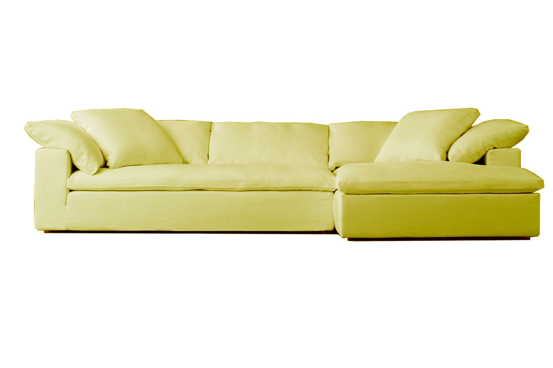 sofa amarillo tela