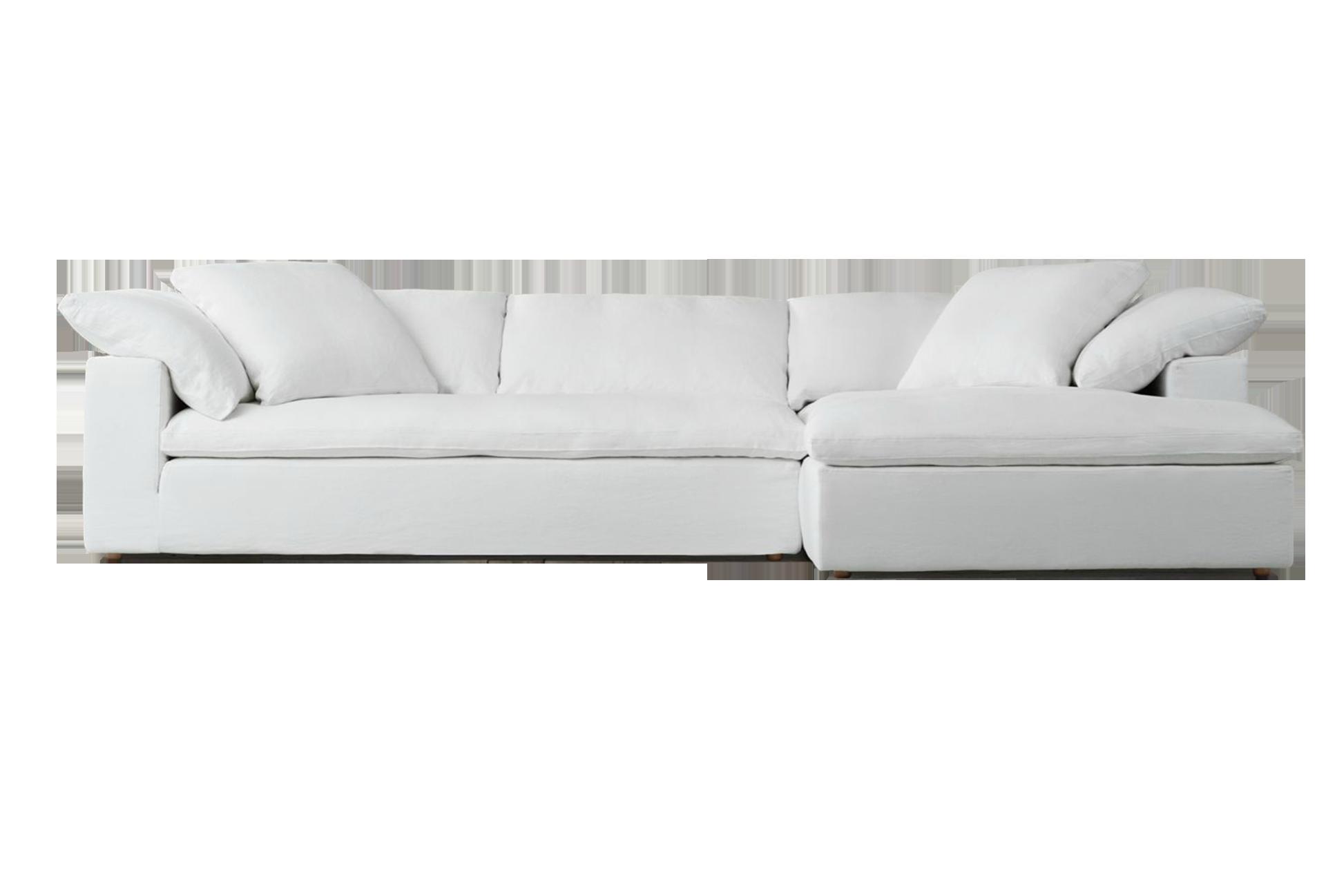sofa en blanco tela